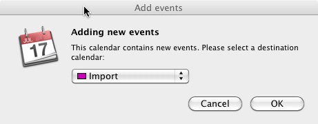 iCal Import