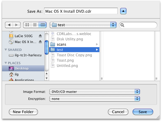 Disk Image Save