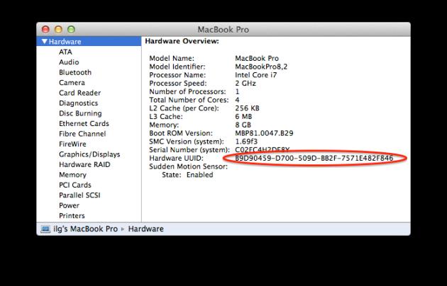 Hardware UUID.